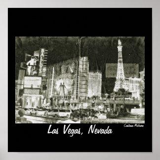 Las Vegas, Nevada Night Collage Vintage Inspired Poster