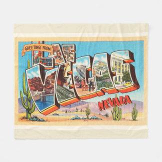 Las Vegas Nevada NV Old Vintage Travel Souvenir Fleece Blanket
