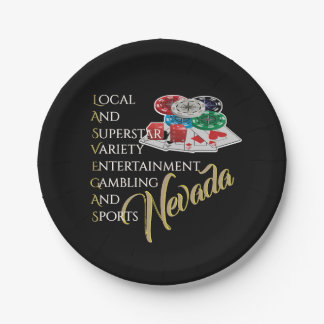 Las Vegas Nevada Party Nite Paper Plate