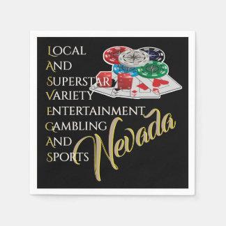 Las Vegas Nevada Party Theme Disposable Napkins