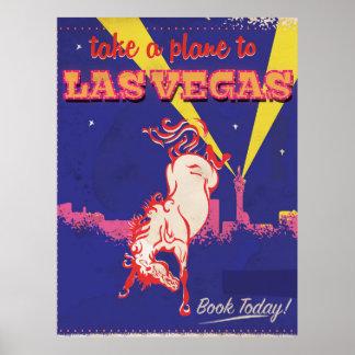 Las Vegas, Nevada retro travel poster.