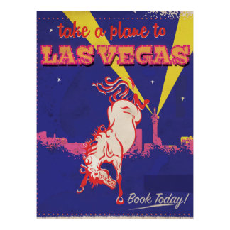 Las Vegas, Nevada retro travel poster. Poster