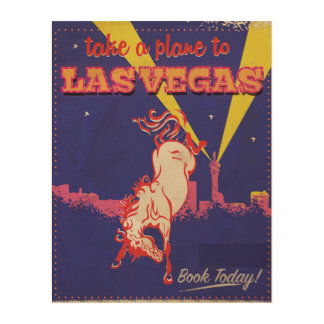 Las Vegas, Nevada retro travel poster. Wood Prints