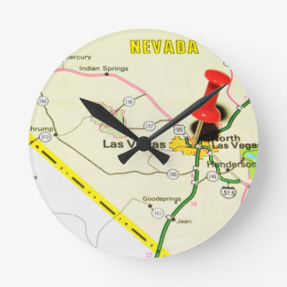 Las Vegas, Nevada Round Clock