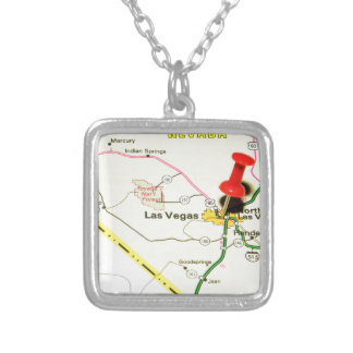 Las Vegas, Nevada Silver Plated Necklace