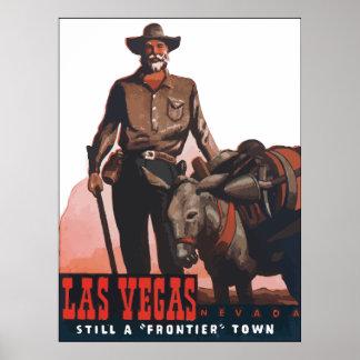 "Las Vegas Nevada Still A ""Frontier"" Town, Vintage Poster"