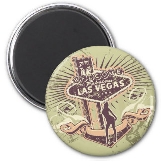 Las Vegas Nevada Tshirts and Gifts 6 Cm Round Magnet