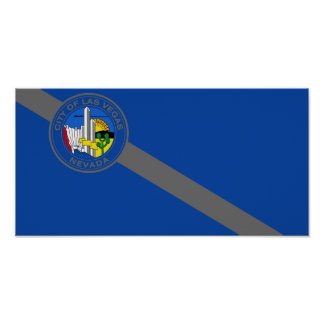 Las Vegas, Nevada, United States flag Print