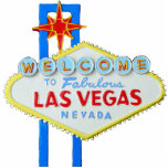 Las Vegas, Nevada, Welcome Sign Standing Photo Sculpture