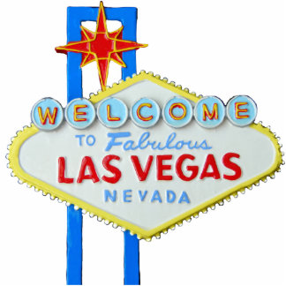 Las Vegas, Nevada, Welcome Sign Standing Photo Sculpture