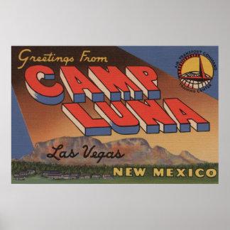 Las Vegas, New Mexico - Camp Luna Poster