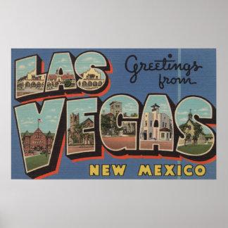Las Vegas, New Mexico - Large Letter Scenes Poster