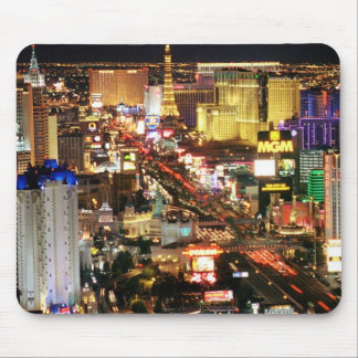 Las Vegas Night Skyline Computer Mousepad