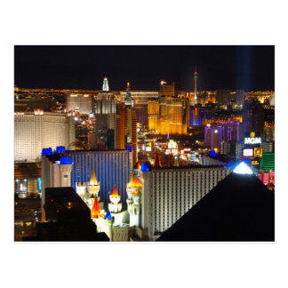 Las Vegas night time Postcard