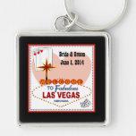 Las Vegas Pair of Hearts Keychain