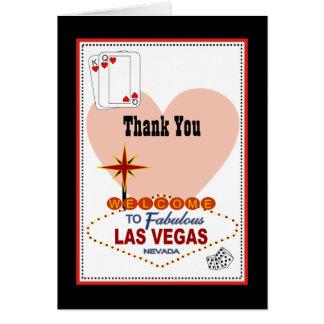 Las Vegas Pair of Hearts Thank You Card