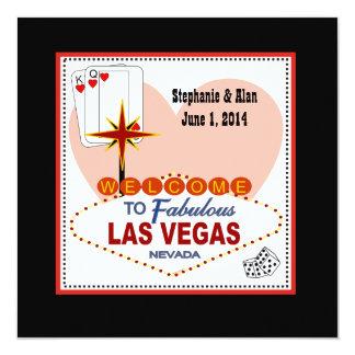 Las Vegas Pair of Hearts Wedding Invitation