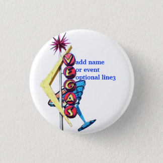 Las Vegas Party ID Badge Vintage Neon Sign