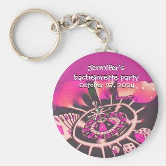 Las Vegas Pink Bachelorette Key Ring