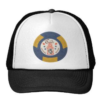 Las Vegas Poker Chip Casino Gambling Obsolete Cap