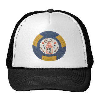 Las Vegas Poker Chip Casino Gambling Obsolete Hats