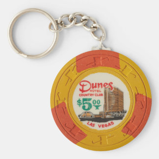 Las Vegas Poker Chip Casino Gambling Obsolete Key Ring
