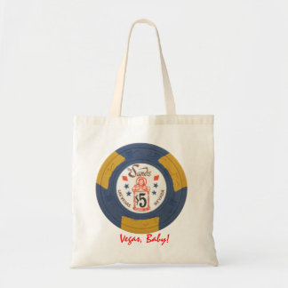 Las Vegas Poker Chip Personalized Tote Gift Bag