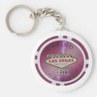 Las Vegas Poker Player Keychain