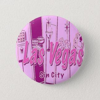 Las Vegas Pop Art Retro 6 Cm Round Badge
