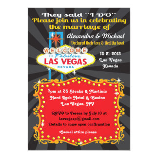 Las Vegas Post Wedding Reception Invitations