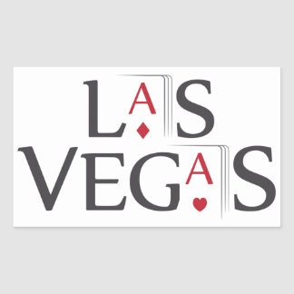 Las Vegas Rectangular Sticker
