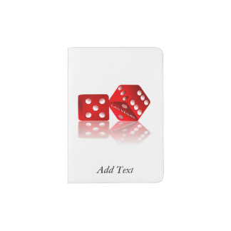 Las Vegas Red Dice Passport Holder