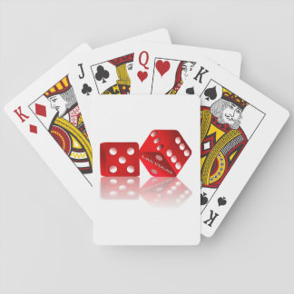 Las Vegas Red Dice Playing Cards