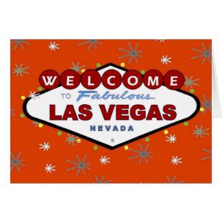 Las Vegas Retro Christmas Card