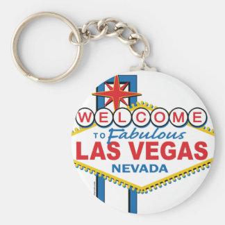 Las Vegas Retro Sign Basic Round Button Key Ring
