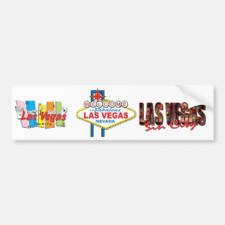 Las Vegas Retro Sign Bumper Sticker