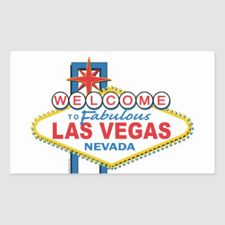 Las Vegas Retro Sign Rectangular Sticker