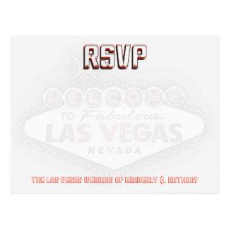 Las Vegas RSVP Wedding Reception Postcard