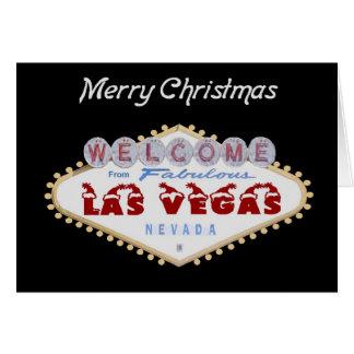 Las Vegas Santa Hat Christmas Card