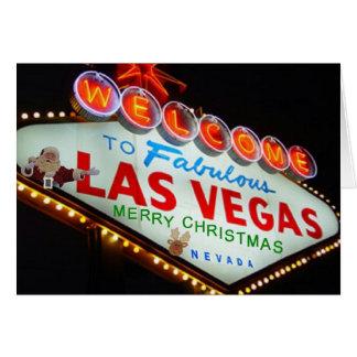 Las Vegas Santa & Reindeer Merry Christmas Card