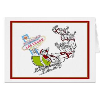 Las Vegas Santa with Sign Card