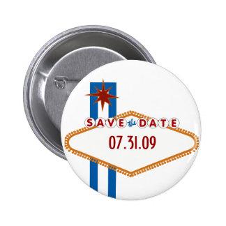Las Vegas Save the Date 6 Cm Round Badge