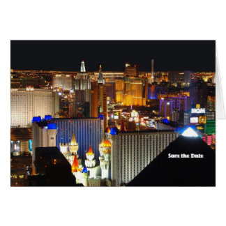Las Vegas Save the Date Card, add your own text! Card