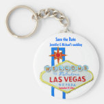 Las Vegas Save the Date Customised Occasion Basic Round Button Key Ring