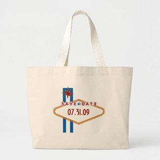Las Vegas Save the Date Jumbo Tote Bag
