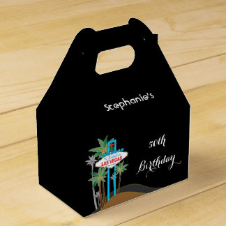 Las Vegas Scene Birthday Party Favor Box
