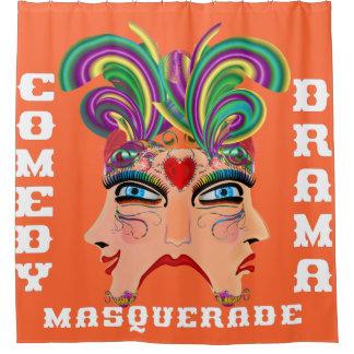 Las Vegas Shower Curtain Collection Autumn Orange