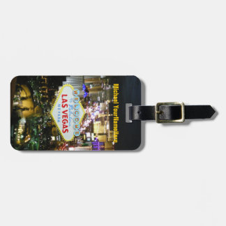 Las Vegas Sign and Boulevard Luggage Tag