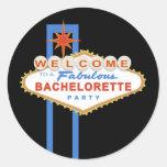 Las Vegas Sign Bachelorette Party Favour Stickers