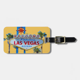 Las Vegas Sign Bag Tag gold